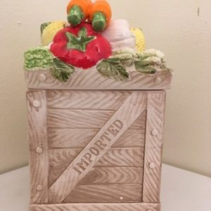 Decorative Vegetable Themed Canister